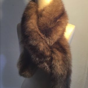 Luxurious Vintage Mink Neck Scarf From I Magnin